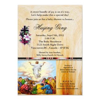 Uitnodiging 24 van het Baby shower van Christain