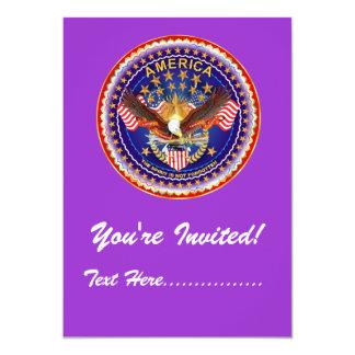 """Uitnodiging 5"""" x 7"""" vergeten niet Amerika…."""