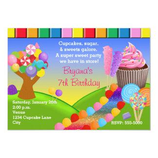 Uitnodiging Cupcakes van het Land van het Snoep