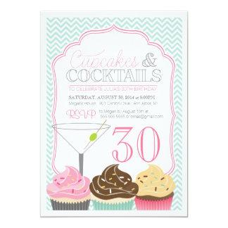 Uitnodiging van Cupcakes & de Volwassen van de