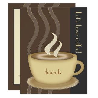Uitnodiging van de Douane van de Kop van de koffie