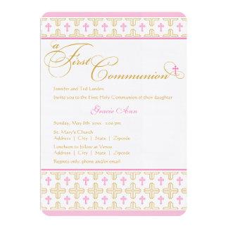 Uitnodiging van de Heilige Communie van het meisje