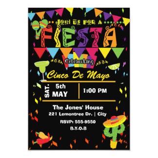 Uitnodiging van de Partij van Cinco DE Mayo van de