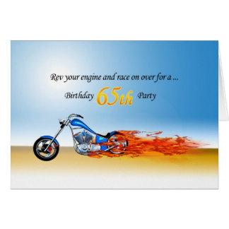 uitnodiging van de Partij van de Motorfiets van de Wenskaart