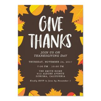 Uitnodiging van de Partij van de Thanksgiving van
