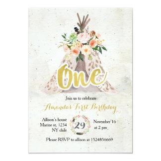 Uitnodiging van de Verjaardag van Boho de Eerste