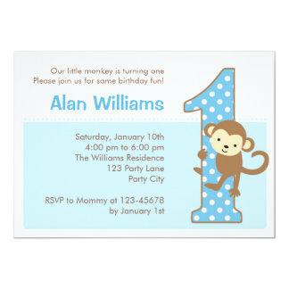Uitnodiging van de Verjaardag van de aap de 1st