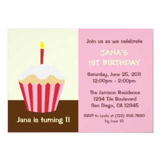 Uitnodiging van de Verjaardag van de baby de