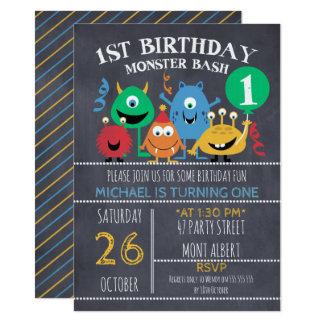 Uitnodiging van de Verjaardag van de Monsters van