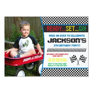 Uitnodiging | van de Verjaardag van de raceauto