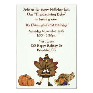 Uitnodiging van de Verjaardag van de Thanksgiving