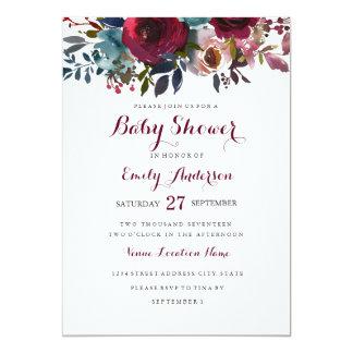 Uitnodiging van het Baby shower van Bourgondië de