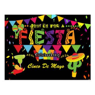 Uitnodiging van het Briefkaart van Cinco DE Mayo
