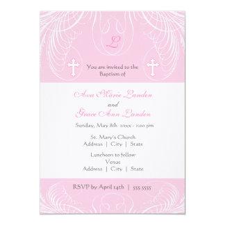 Uitnodiging van het Doopsel van de Meisjes van het 12,7x17,8 Uitnodiging Kaart