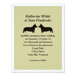 Uitnodiging van het Huwelijk Corgis van Pembroke