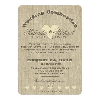 Uitnodiging | van het huwelijk het Rustieke