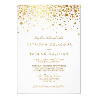 Uitnodiging van het Huwelijk van de Confettien van 12,7x17,8 Uitnodiging Kaart