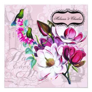 Uitnodiging van het Huwelijk van de Magnolia's van Kaart