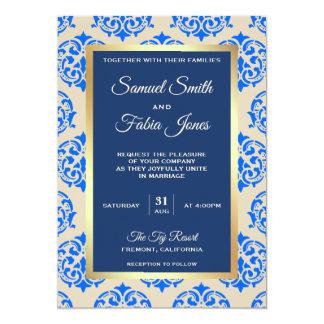 Uitnodiging van het Huwelijk van het Damast van de