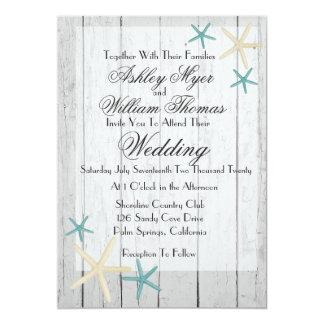 Uitnodiging van het Huwelijk van het Strand van de