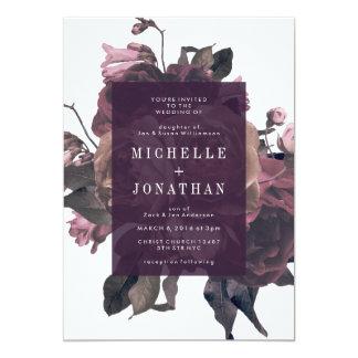 Uitnodiging van het Huwelijk van paarse Antiek