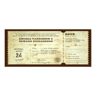 uitnodiging van het huwelijks de vintage kaartje 10,2x23,5 uitnodiging kaart