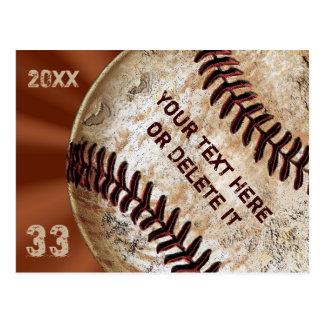 Uitnodigingen van de Briefkaarten van het Honkbal