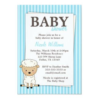 Uitnodigingen van de Streep van het Baby shower