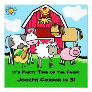 Uitnodigingen van de Verjaardag van het boerderij
