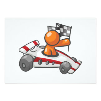 Uitnodigingen van de Vlag van de raceauto de