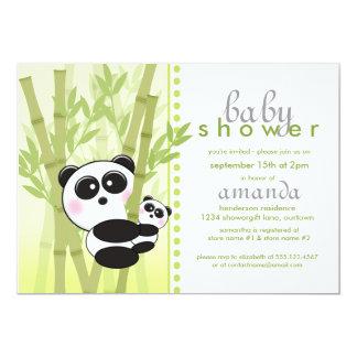 Uitnodigingen van het Baby shower van de panda (de