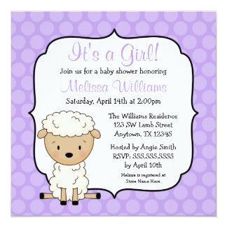 Uitnodigingen van het Baby shower van het Meisje