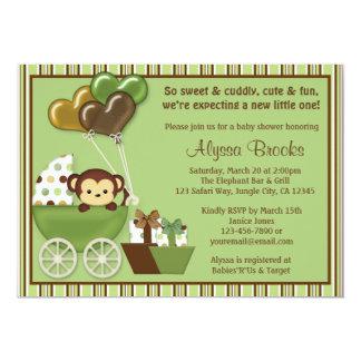Uitnodigingen van het Baby shower van het Vervoer
