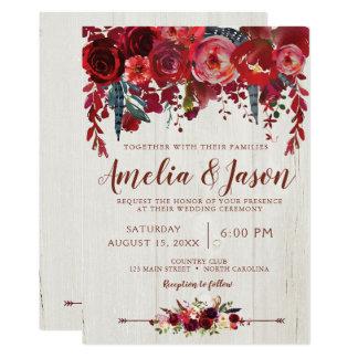 Uitnodigingen van het Huwelijk Boho van Bourgondië