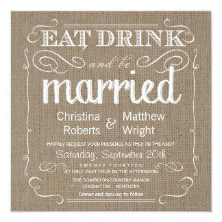 Uitnodigingen van het Huwelijk van de jute de