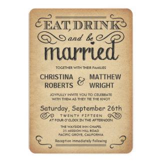 Uitnodigingen van het Huwelijk van de vintage