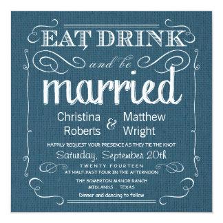 Uitnodigingen van het Huwelijk van het rustieke