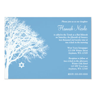 Uitnodigingen van Mitzvah van de Knuppel van de