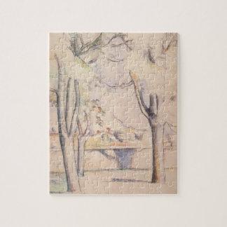 Uitzicht door de Bomen door Paul Cezanne, Vintage Legpuzzel