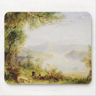 Uitzicht op de Hudson Rivier, c.1840-45 (olie op p Muismatten