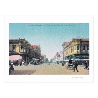 Uitzicht van 13de Straat van BroadwayOakland, CA Briefkaart