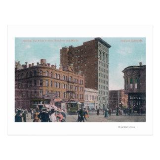 Uitzicht van Broadway, 14de St, San Pablo Ave Briefkaart