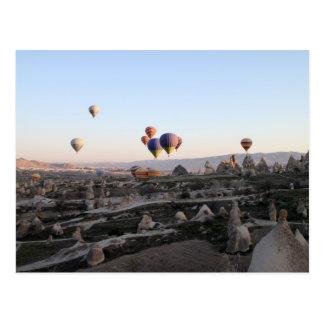 Uitzicht van Cappadocia van de luchtimpuls Briefkaart