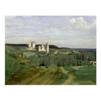 Uitzicht van Chateau DE Pierrefonds, c.1840-45 Briefkaart