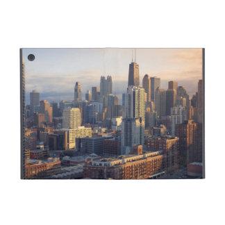 Uitzicht van cityscape met fantastisch licht iPad mini hoesje