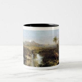 Uitzicht van Cotopaxi, Ecuador, Frederick Edwin Tweekleurige Koffiemok