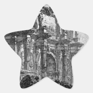 Uitzicht van de Boog van Augustus D ` Aosta Ster Sticker