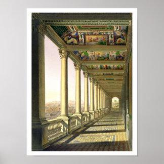 Uitzicht van de derde verdieping Loggia in het Vat Poster