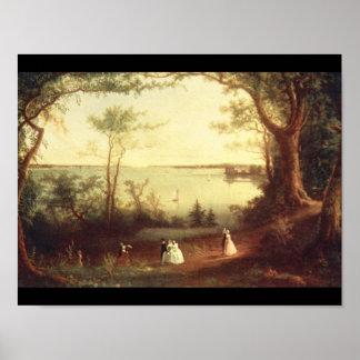 Uitzicht van de Haven van New York from_Landscapes Poster