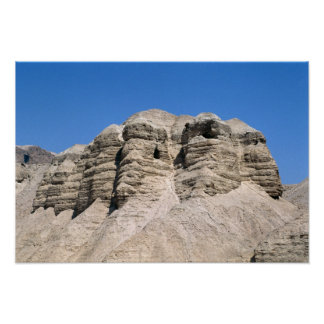 Uitzicht van de Holen Qumran Poster